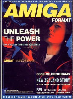 Amiga Format magazine Issue 001