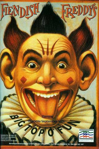 Fiendish Freddy's retro computer game poster