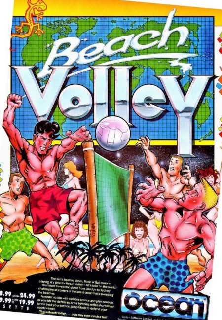 Poster for Beach Volley Amiga game