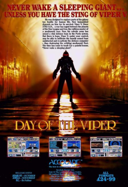 Day of the viper retro computer game poster