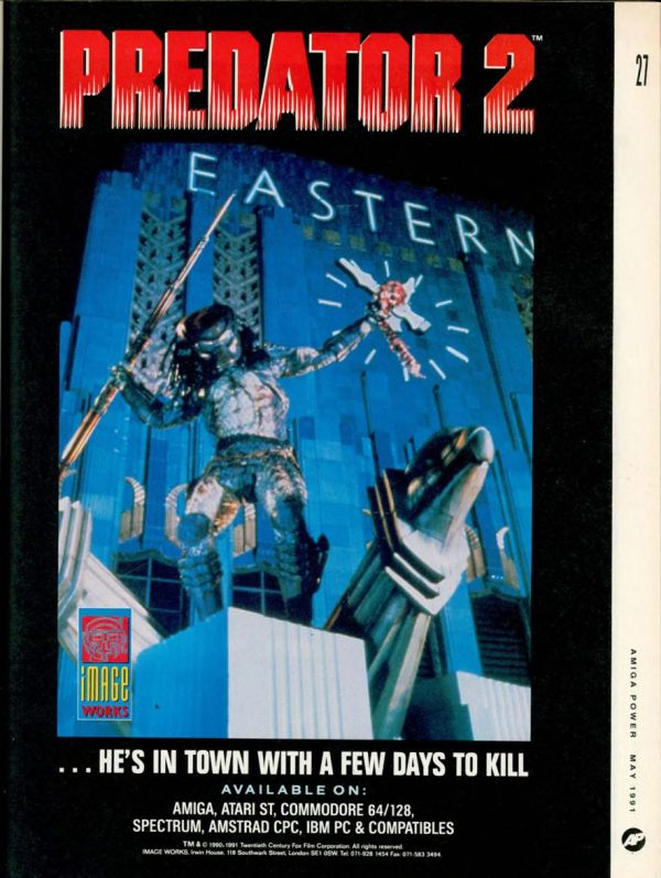Advertisement for the Predator 2 computer game