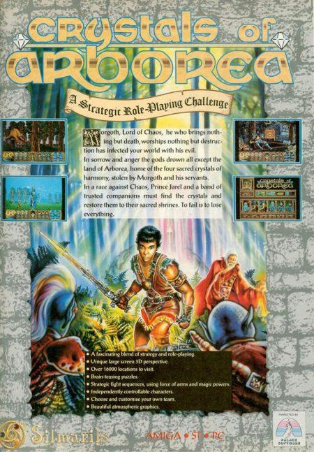 Cystals or Arborea Amiga game advert