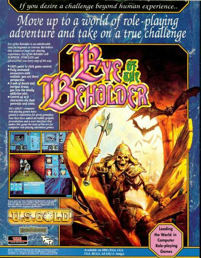 Eye of the beholder game poster ad