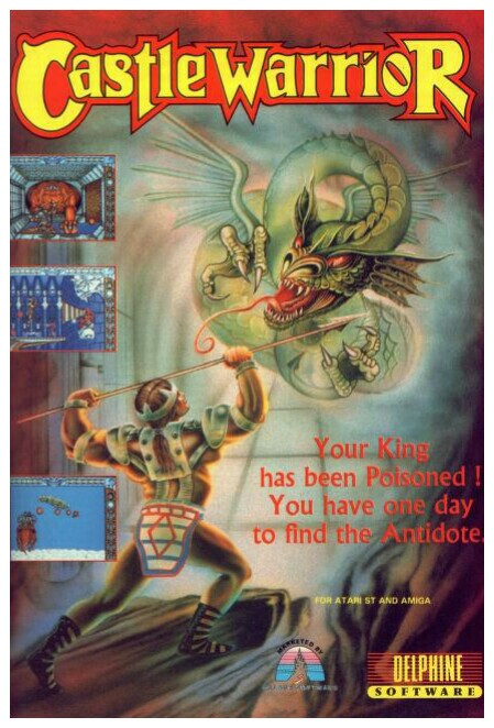 Amiga Game Castle Warrior by Delphine poster ad