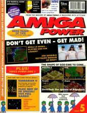 Front cover of Amiga Power issue 5 magazine
