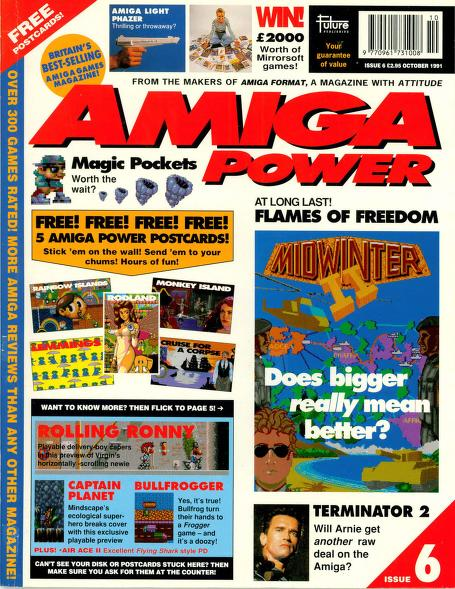 Amiga Power magazine issue 6 front cover