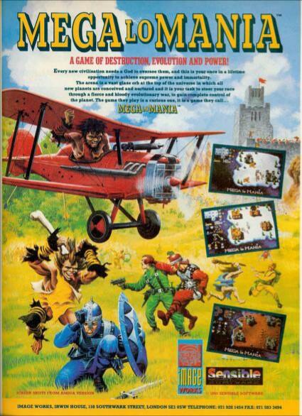 Megalomania ad from Amiga power