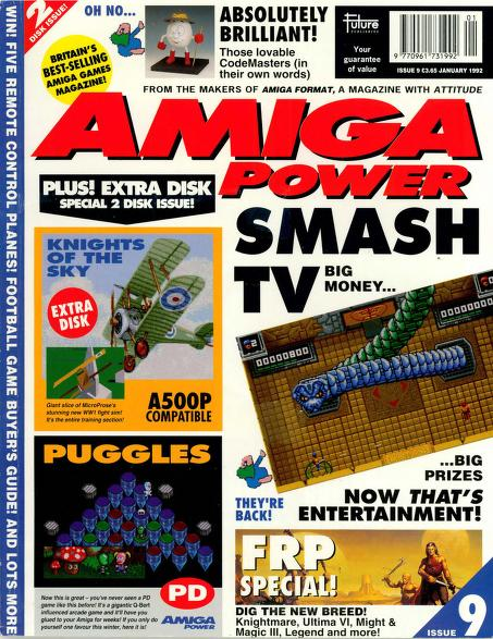 Amiga Power magazine issue 9 front cover