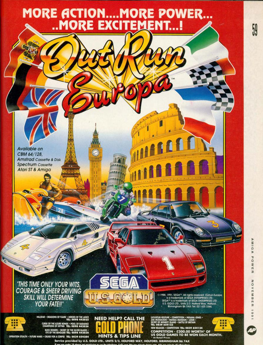 Advert poster for Outrun Europa video game
