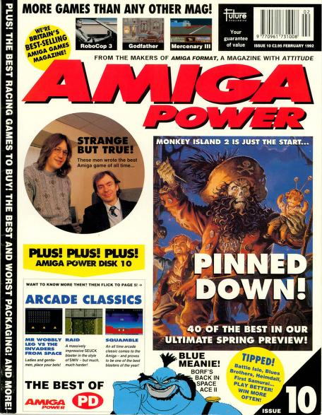 Front cover of Amiga Power magazine issue 10