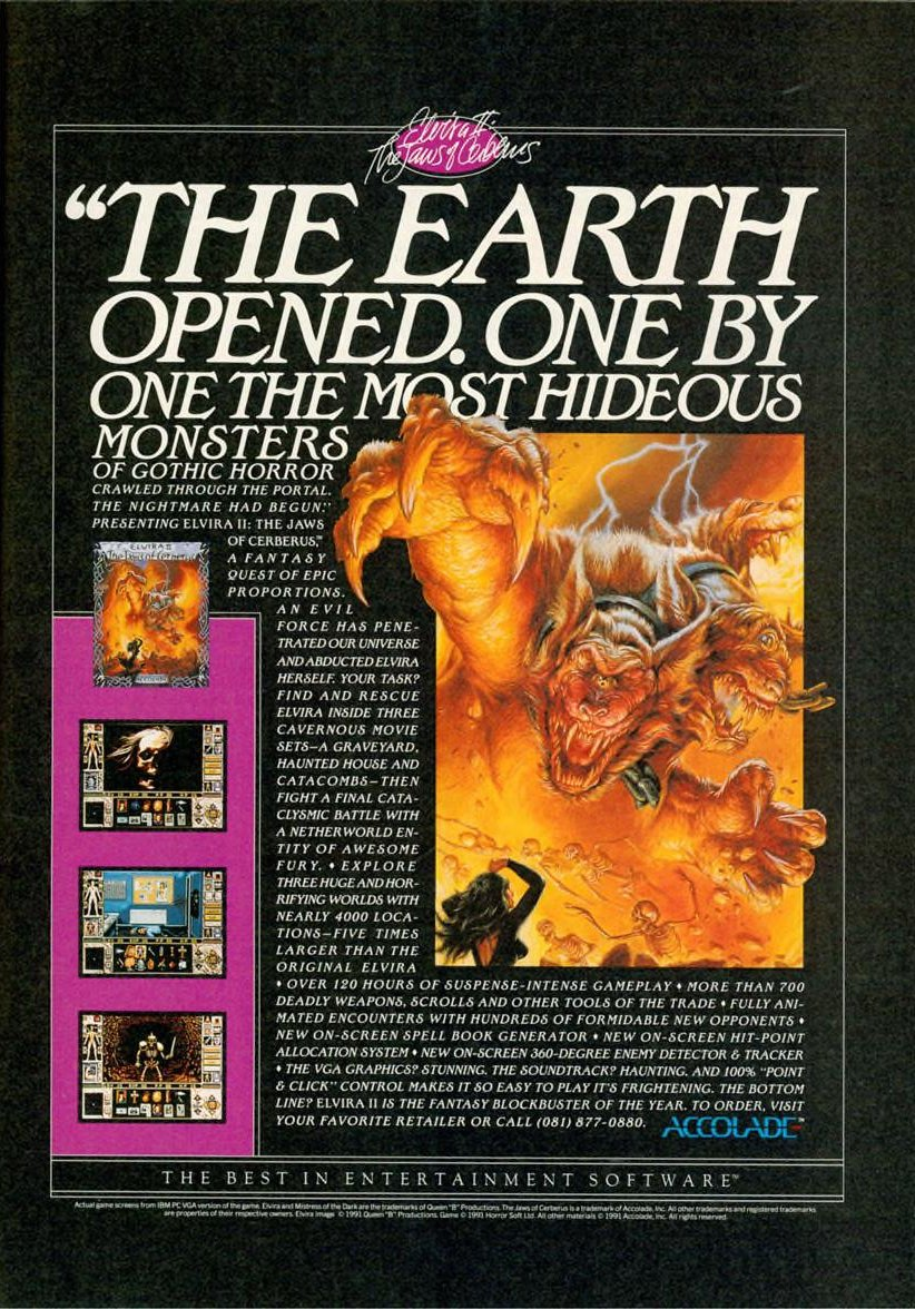 Advertising poster for Eliva 2 computer game