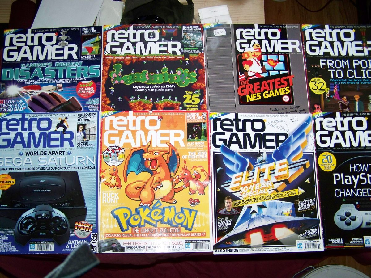Collection of retro gamer magazine back issues