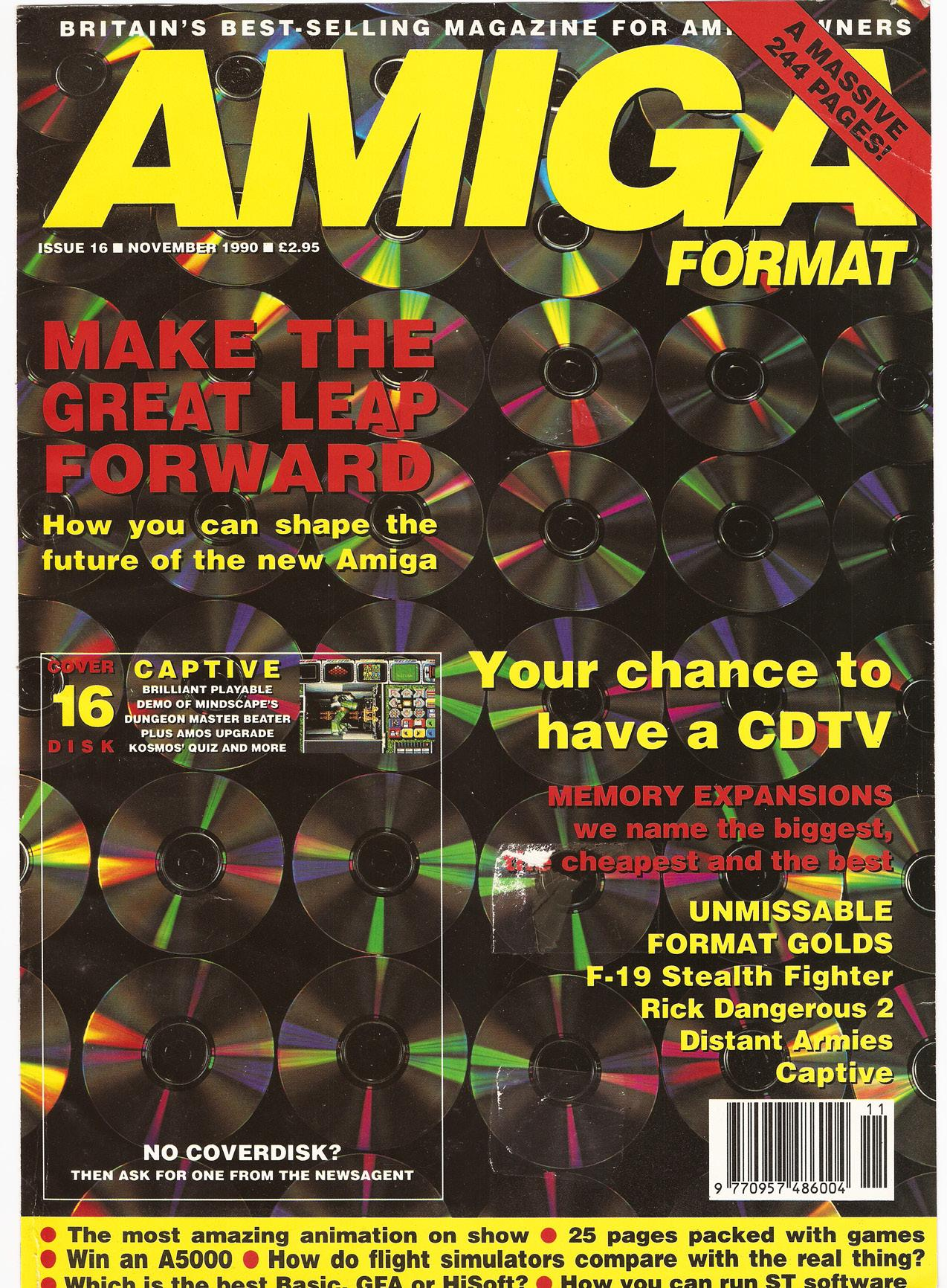 front cover of Amiga Format issue 16