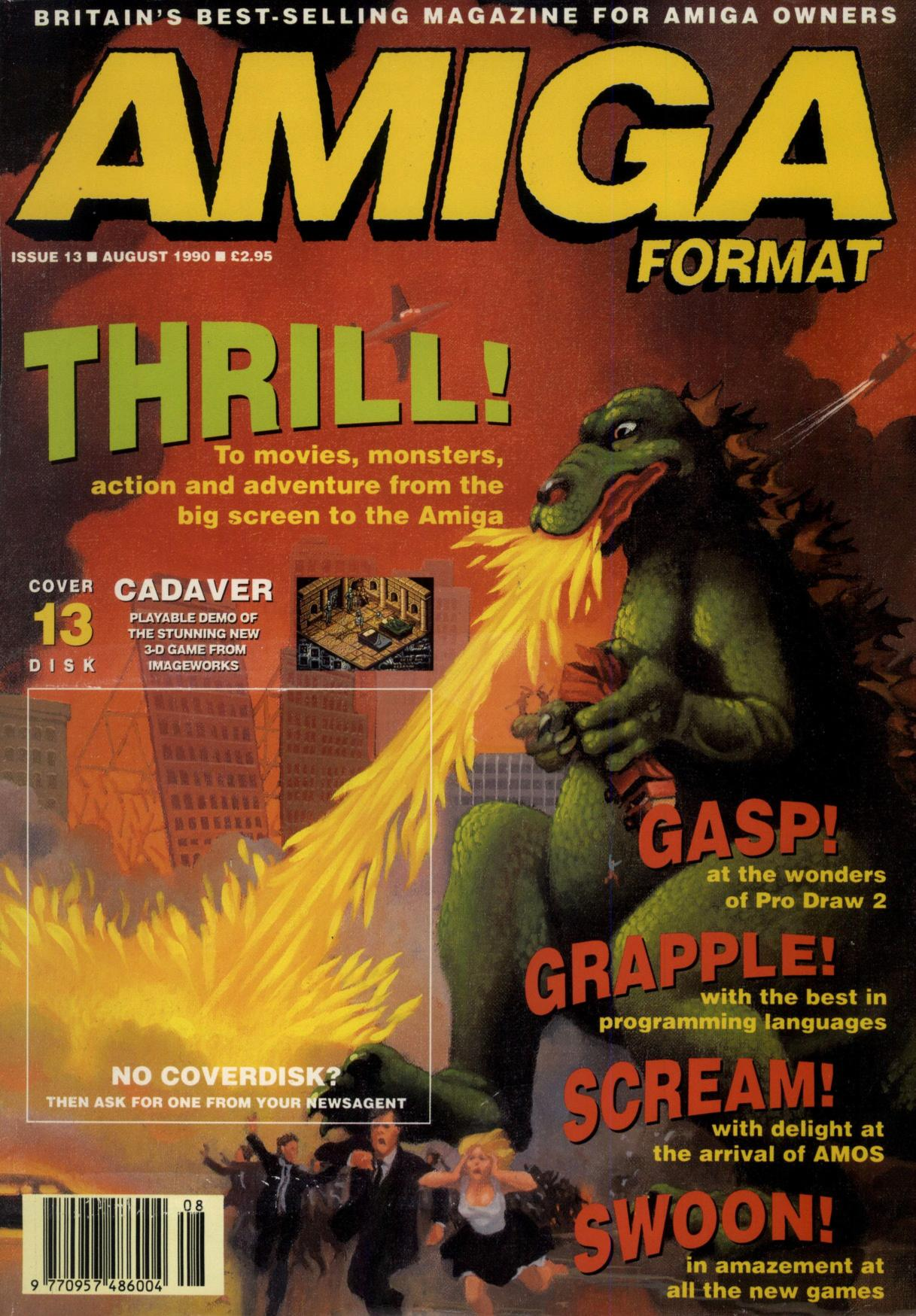 Amiga Format issue 013 front cover