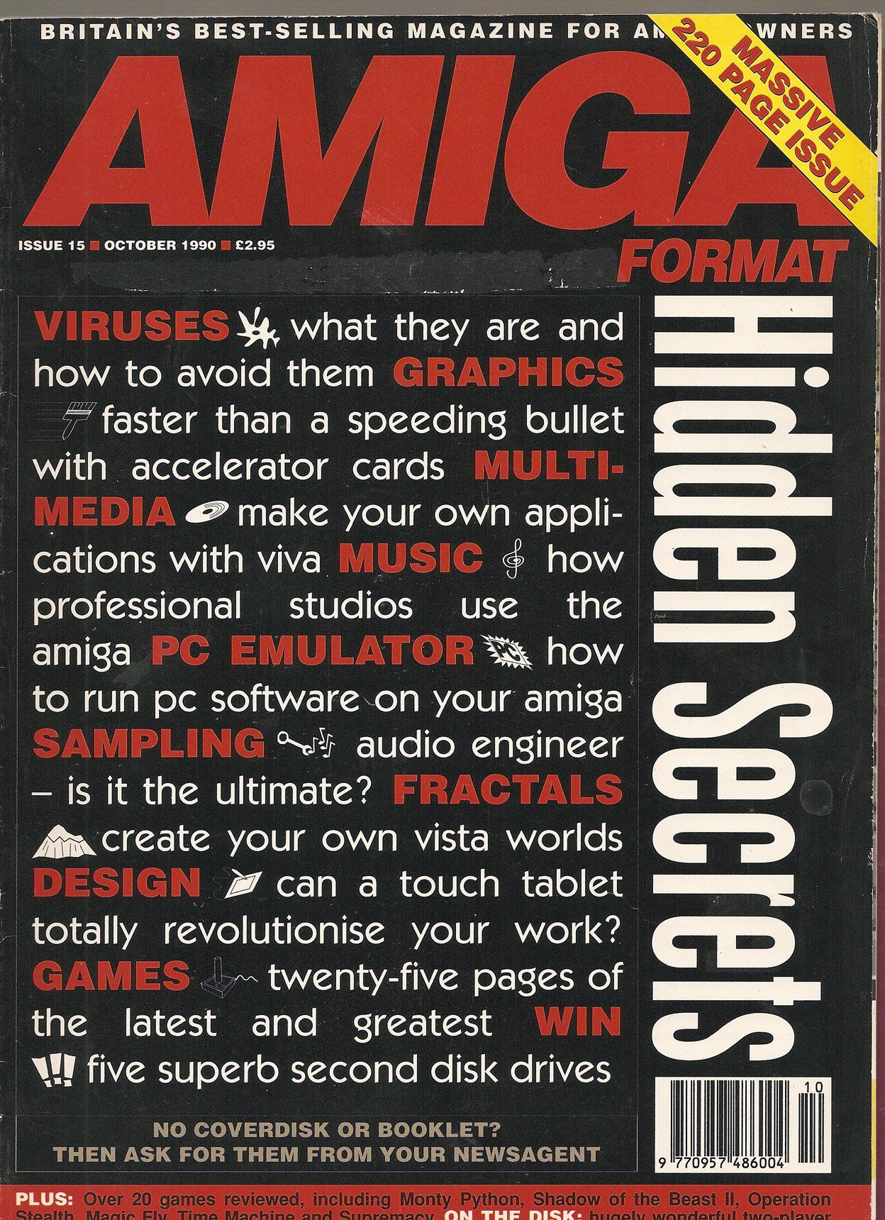 Amiga Format magazine Issue 015 – PDF download | Amiga Computers