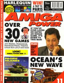 Amiga Power Magazine issue 11 front cover